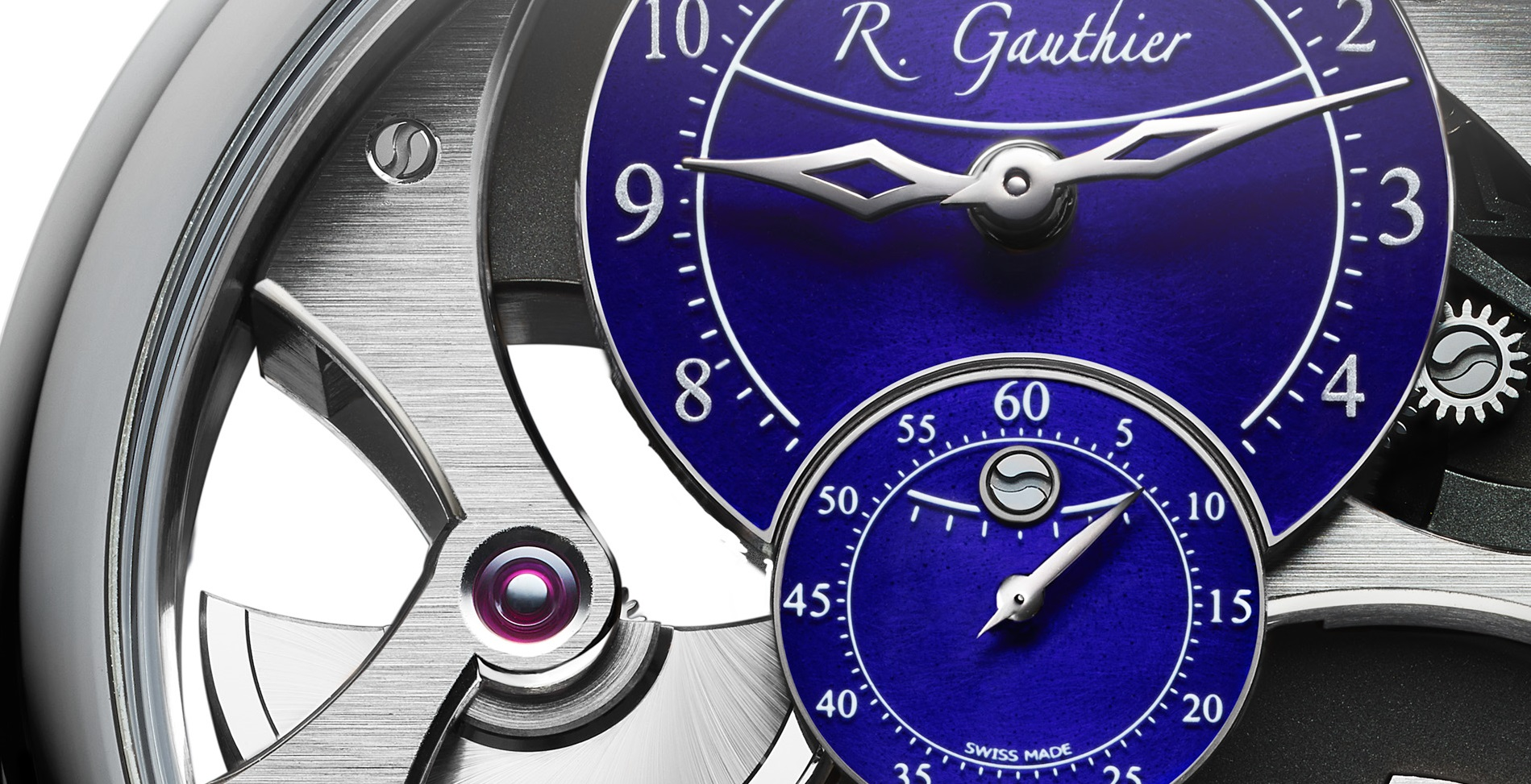 Romain_Gauthier_Insight_Micro-Rotor_Natural_Titanium_blue_enamel_dial_leather_strap_5