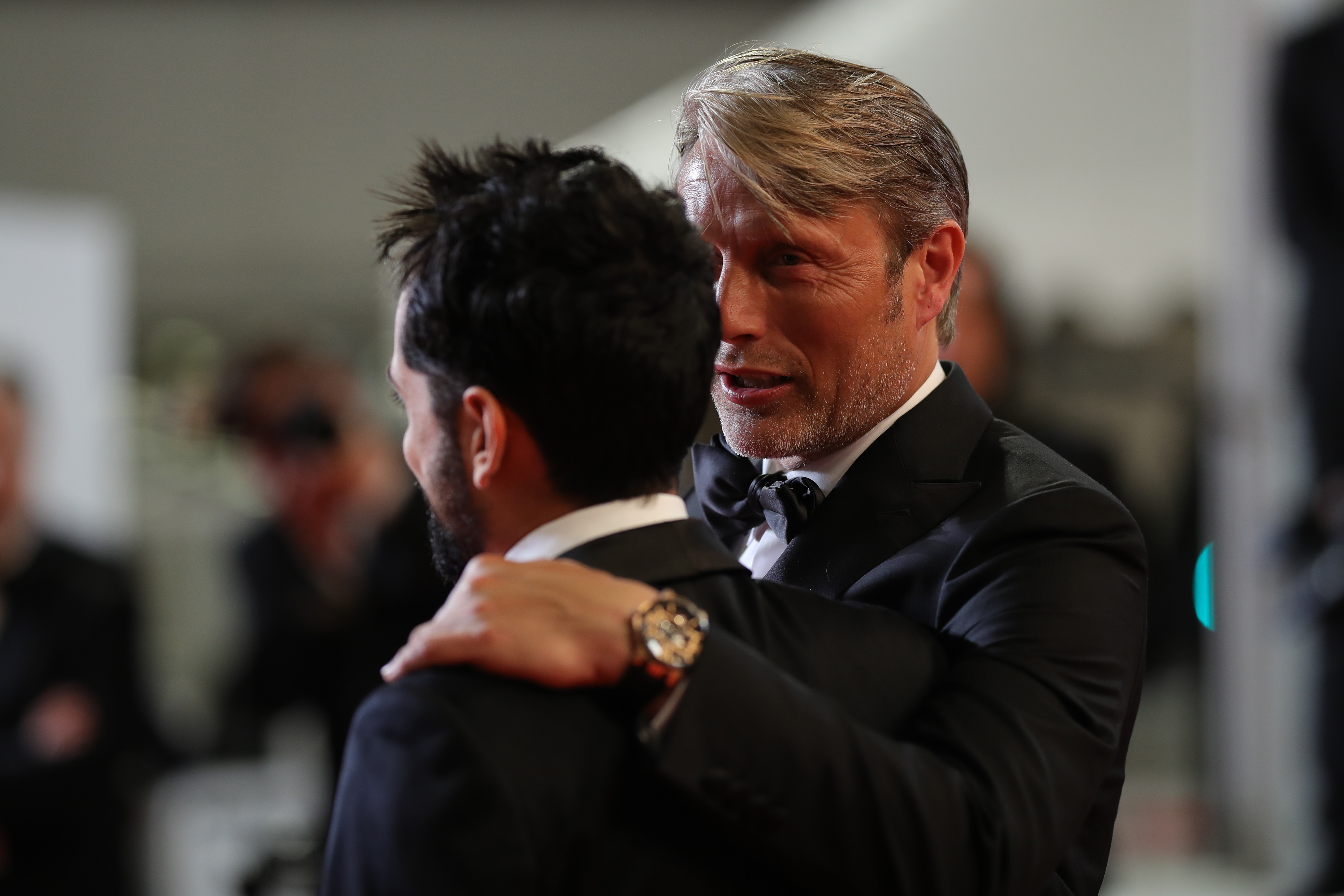 "CANNES, FRANCE - MAY 10: Director Joe Penna and actor Mads Mikkelsen attend the screening of ""Arctic"" during the 71st annual Cannes Film Festival at Palais des Festivals on May 10, 2018 in Cannes, France. (Photo by Andreas Rentz/Getty Images)"