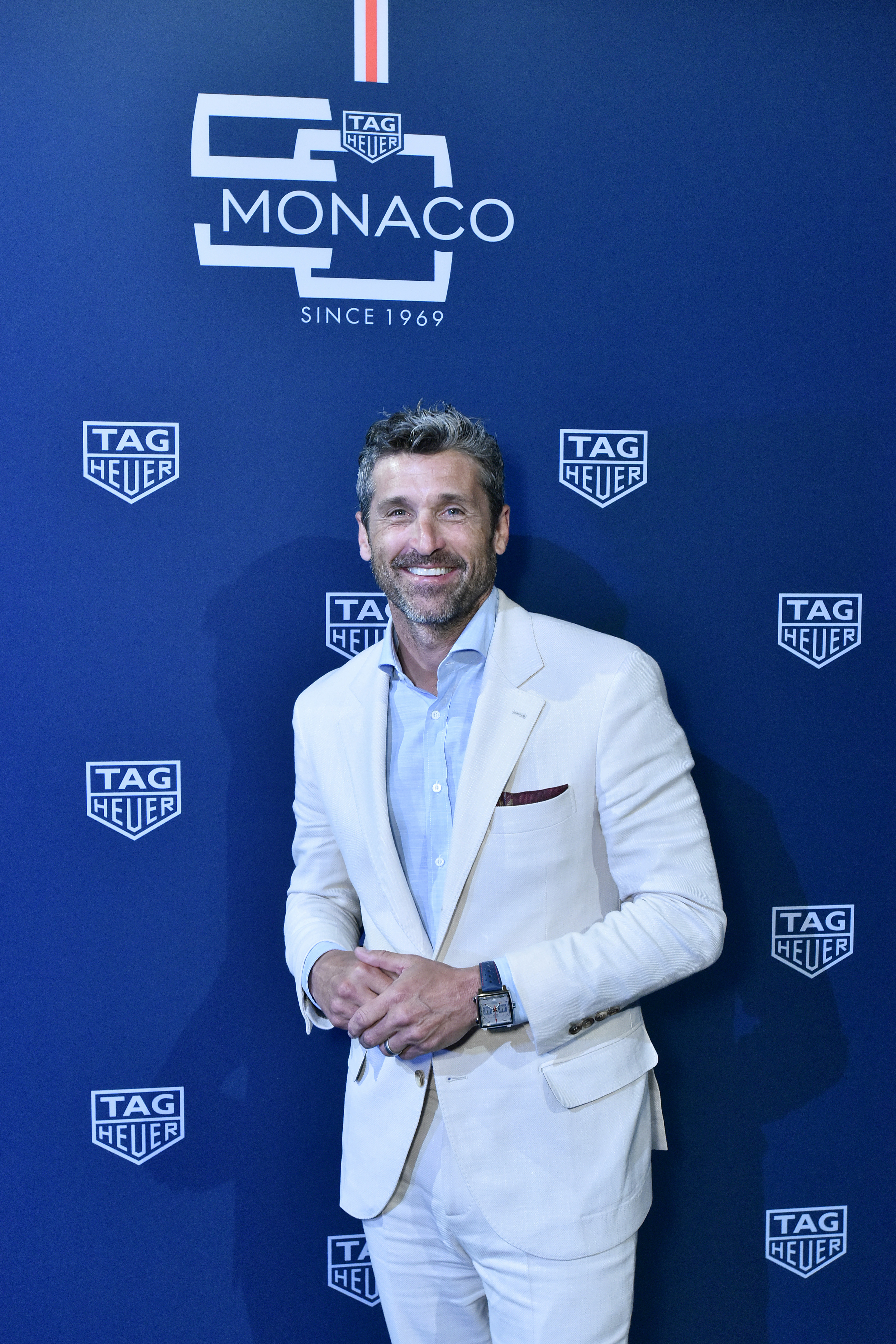 NEW YORK, NEW YORK - JULY 10: Patrick Dempsey attends a TAG Heuer celebration of 50 years of the iconic Monaco Timepiece with brand ambassador Patrick Dempsey on July 10, 2019 in New York City. (Photo by Eugene Gologursky/Getty Images for TAG Heuer)
